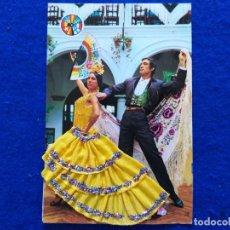 Postales: POSTAL FOTOGRAFICA PAREJA DE FLAMENCOS. TRAJE DE TELA Y ENCAJE. EDICIONES PALMA.. Lote 199180293