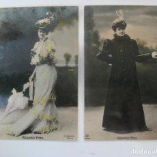 Postales: 2 POSTALES FOTOGRAFICAS DE ROSARIO PINO - CIRCULADAS EN 1907. Lote 199377997