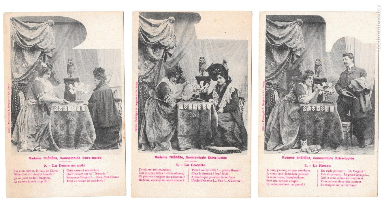 P-11493. LOTE 3 POSTALES FOTOGRAFICAS MADAME THERESE. PRINCIPIOS S.XX. (Postales - Postales Temáticas - Galantes y Mujeres)