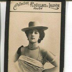 Postales: BELLA OTERO-ACTRIZ-FOTOGRÁFICA 4,5 X 7,5-COLECCIÓN ROVILLARD & LALOYER- MUY RARA. Lote 203815692