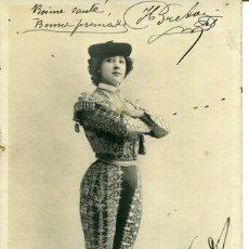 Postales: BELLA OTERO-VESTIDA DE TORERO- AÑO 1903. Lote 203816557