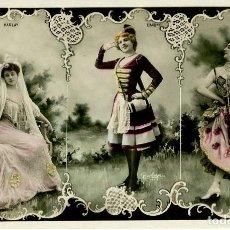 Postales: BELLA OTERO-HARLAY-BAXONE-ARTISTAS AÑO 1907- RARA. Lote 204233042
