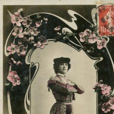 Postales: BELLA OTERO-FOTOGRÁFICA REUTLINGER- AÑO 1908- RARA. Lote 205028915