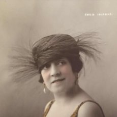 Postales: ANTIGUA FOTO POSTAL DE LA ARTISTA EMILIA IGLESIAS. Lote 206800635