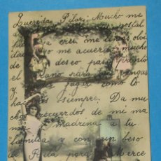 Postales: POSTAL ANTIGUA CON UNA P. MUJER Y TRES NIÑAS. CIRCULADA 1904.. Lote 206898660