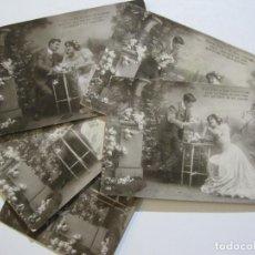 Postales: SERIE DE 5 POSTALES DE ESCENA ROMANTICA-POSTALES FOTOGRAFICAS-VER FOTOS-(72.533). Lote 210695841