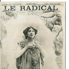 Postales: BELLA OTERO-LE RADICAL-AÑO 1901. Lote 210801065
