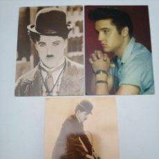 Postales: POSTALES DE ARTISTAS, CHARLIE CHAPLIN, ELVIS PRESLEY. Lote 212406488