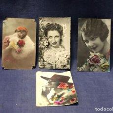 Postales: 4 POSTALES GALANTES MUJERES PPIO S XX. Lote 215155200