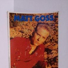Postales: POSTAL REVISTA TOP SECRETS- MATT GOSS - GRUPO BROS - 1989. Lote 218441226