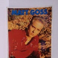 Postales: POSTAL REVISTA TOP SECRETS- MATT GOSS - GRUPO BROS - 1989. Lote 218441256