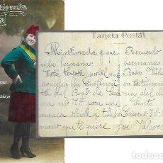 Postales: POSTAL AÑO 1928 * CANTINERITA LA REINA DEL CUARTEL *. Lote 221590762