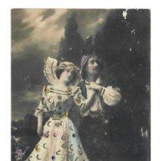 Postales: PAREJA DE BAILE CON LENTEJUELAS - 1911. Lote 221837508