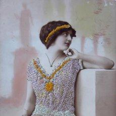 Postales: P-11618. POSTAL ROMÁNTICA BORDADA Y COLOREADA. AÑO 1906 .. Lote 222095950