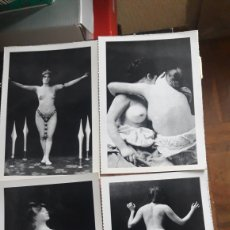 Postales: LOTE DE 4 POSTALES FOTOGRAFÍCAS DE DESNUDOS FEMENINOS. Lote 222243948