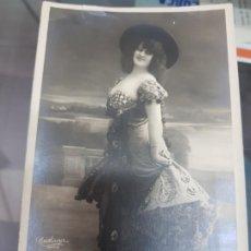 Postales: ANTIGUA POSTAL ACTRIZ COUPLETISTA BILLY NORTON LIBRILLA MURCIA 1908. Lote 222545465