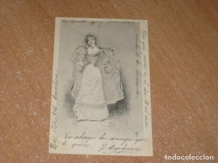 POSTAL DE MUJER (Postales - Postales Temáticas - Galantes y Mujeres)