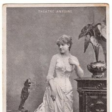 Postales: RETRATO ELEGANTE DAMA. ANTIGUA ACTRIZ ELLEN ANDRÈE. THÈÂTRE ANTOINE PARIS FRANCIA M.J.S. AA. Lote 223128493
