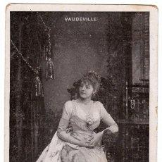 Postales: RETRATO ELEGANTE DAMA. ANTIGUA ACTRIZ. RÉJANE, VAUDEVILLE, PARIS, FRANCIA M.J.S. AA. Lote 223130020