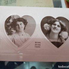 Postales: ANTIGUA POSTAL ROMANTICA ACTRIZ COUPLETISTA MISS ZENA DARE. Lote 226244185