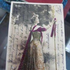 Postales: ANTIGUA POSTAL ROMANTICA ACTRIZ COUPLETISTA BRESIL DE MELILLA A CARTAGENA MURCIA. Lote 226561125