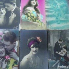 Postales: 6 RARAS POSTALES ROMÁNTICAS AÑOS 1930. Lote 235979155