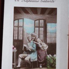 Postales: POSTAL EL ZAPATERO GALANTEASTRA 6068. 1909 ESCRITA Y FRANQUEADA. Lote 238556590