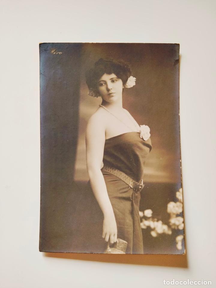 """Postales: 2 Postales Fotográficas """"Mujer con jarrón"""". Héro Ref. GC 233/1 y 233/2. NUEVAS, SIN USO. - Foto 3 - 241698885"""
