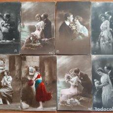 Postales: LOTE 28 POSTALES ROMÁNTICAS - MAYORÍA 2ª DECADA SIGLO. XX. Lote 243759520