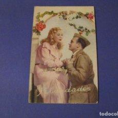 Postales: POSTAL ROMÁNTICA. FELICIDADES. ED. C. Y Z. 510/A ESCRITA. 1955.. Lote 243897095