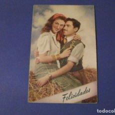 Postales: POSTAL ROMÁNTICA. FELICIDADES. ED. C. Y Z. 594 ESCRITA. 1959.. Lote 243897550