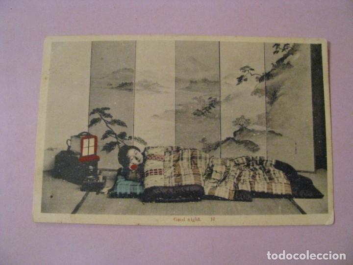 ANTIGUA POSTAL DE JAPON. GEISHA O MAIKO. SIN CIRCULAR. (Postales - Postales Temáticas - Galantes y Mujeres)