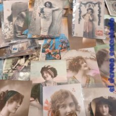 Postales: LOTE 66 POSTALES ROMANTICAS. MUJERES. PPIOS. S. XX. Lote 248583255