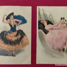 Postales: ILUSTRACION DE MUJERES ART DECO ILUSTRADOR ITALIANO ULTRA 21172119 ULTRA PRODUZIONE ITALIANA. Lote 248816890
