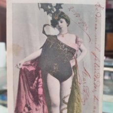 Postales: ANTIGUA POSTAL ROMANTICA ACTRIZ COUPLETISTA O VARIEDADES CARTAGENA MURCIA 1903. Lote 249281125