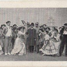 Postales: ESCENA DE «¡HIP! ¡HIP! BARCELONA O ATRACCIÓN DE FORASTEROS» POSTAL 1909 TEATRE TIVOLI ZARZUELA. Lote 251581810