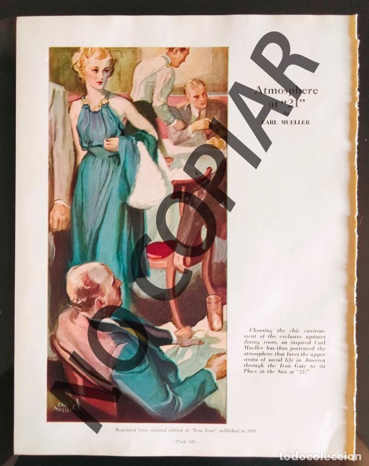 ILUSTRACIÓN DE CARL MUELLER. ILUSTRACIÓN EXTRAÍDA DE LIBRO CONMEMORATIVO. USA. AÑO 1950. (Postales - Postales Temáticas - Galantes y Mujeres)
