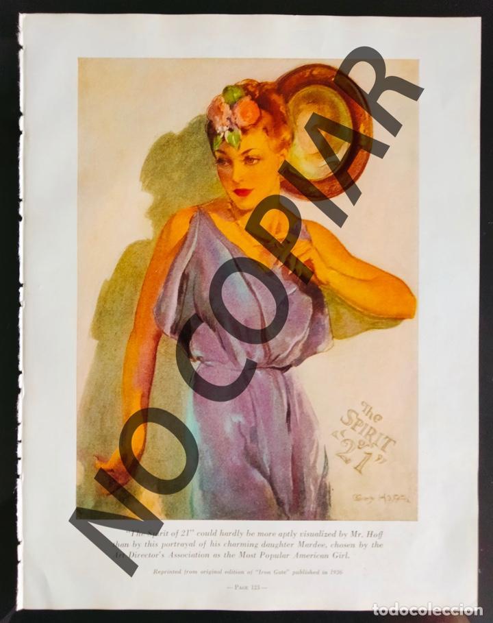 ILUSTRACIÓN DE GUY HOFF. ILUSTRACIÓN EXTRAÍDA LIBRO CONMEMORATIVO. USA. AÑO 1950. (Postales - Postales Temáticas - Galantes y Mujeres)