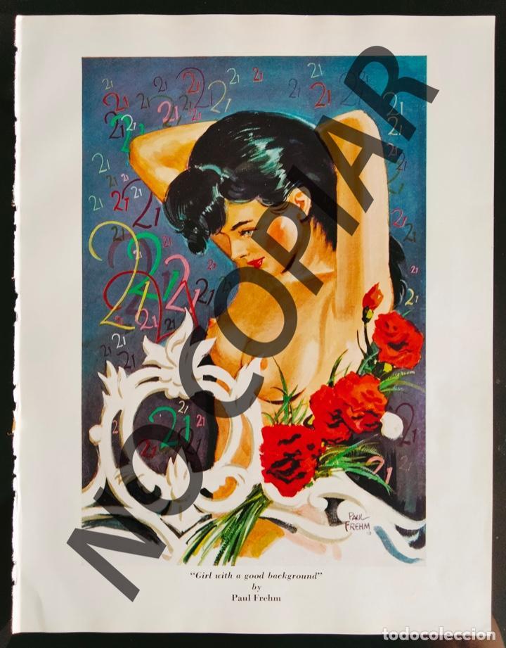 ILUSTRACIÓN DE PAUL FREHM. ILUSTRACIÓN EXTRAÍDA LIBRO CONMEMORATIVO. USA. AÑO 1950. (Postales - Postales Temáticas - Galantes y Mujeres)