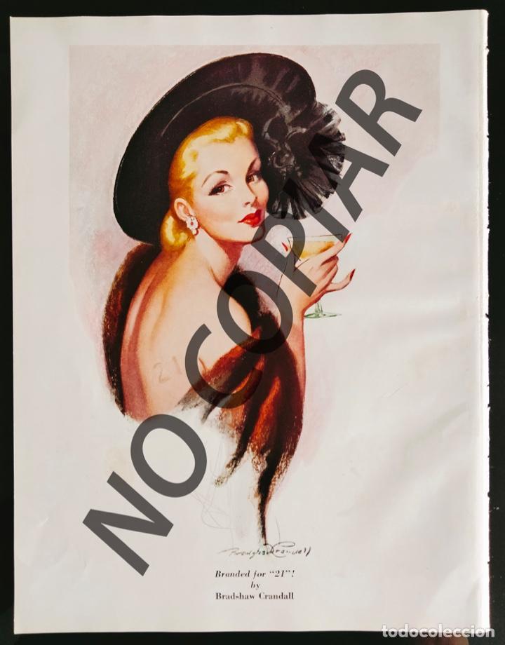 ILUSTRACIÓN DE BRADSHAW CRANDALL. ILUSTRACIÓN EXTRAÍDA LIBRO CONMEMORATIVO. USA. AÑO 1950. (Postales - Postales Temáticas - Galantes y Mujeres)