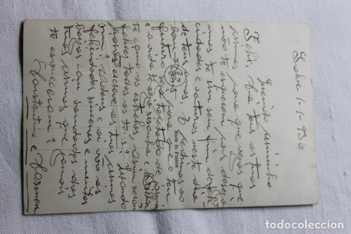 Postales: ANTIGUA POSTAL COLOREADA MUJER EN VENTANA CON PALOMA - AÑOS 30 -P.C. PARIS 4271 - Foto 2 - 254324765
