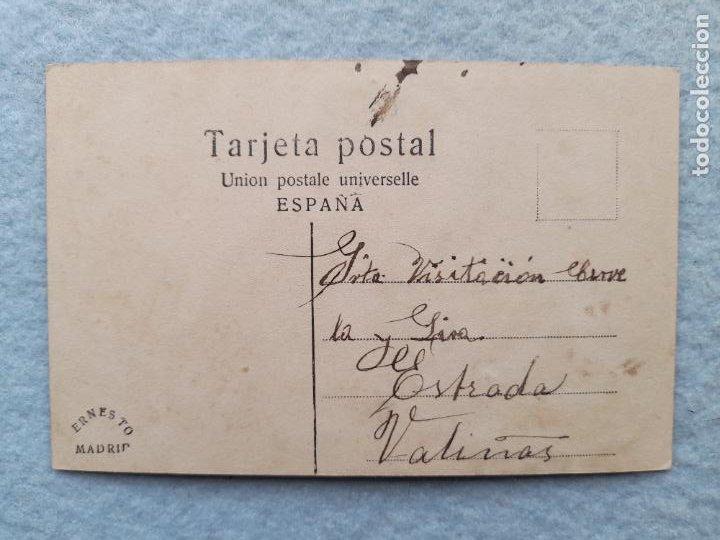 Postales: Postal decorada de las Señoritas M. Reina. y P. López. Escrita - Foto 2 - 254427255