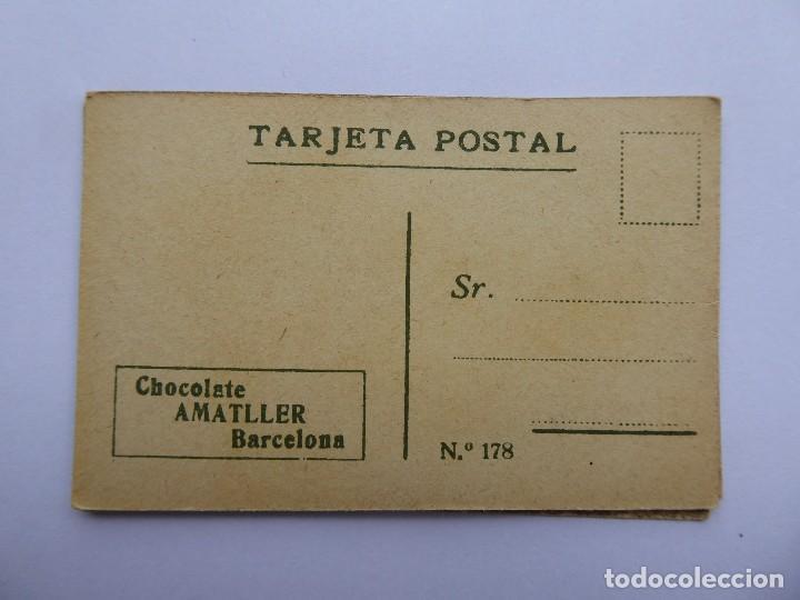 Postales: P-12649. CHOCOLATE AMATLLER. COLECCIÓN DE 37 MINI POSTALES DE MODELOS PRINCIPIOS SIGLO XX. - Foto 6 - 254564265