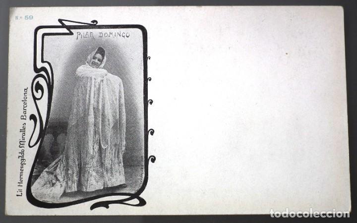 PILAR DOMINGO. Nº 59 LIT. HERMENEGILDO MIRALLES - FOTÓGRAFO PABLO AUDOUARD (Postales - Postales Temáticas - Galantes y Mujeres)