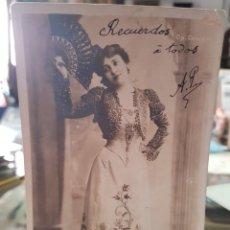Postales: ANTIGUA POSTAL ROMANTICA ACTRIZ COUPLETISTA MARIE THIERRY. Lote 259781235