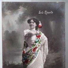Postales: ANTIGUA POSTAL DE LA ARTISTA DE VARIETÉS LOLA RICARTE. Lote 261296060