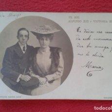 Postales: POST CARD SS. MM. SUS MAJESTADES LOS REYES ESPAÑA ALFONSO XIII Y VICTORIA EUGENIA HUGUES & MULLINS... Lote 262840660