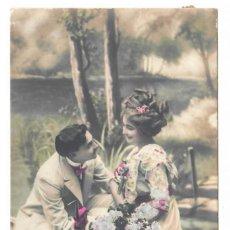 Postales: PAREJA DE ENAMORADOS - CIRCULADA EN 1911 - SELLO DE CHILE. Lote 265856454