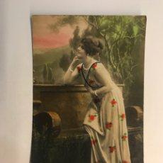 Postales: POSTAL FRANCESA MODERNISTA. LOS LOCOS AÑOS VEINTE. EDIC. NPG PARIS (A.1922) DEDICADA. Lote 269831553