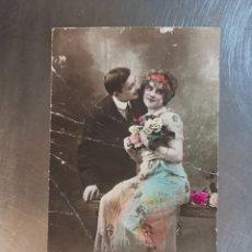 Postales: POSTAL DE PAREJA, DIRIGIDA A SALLENT. FAMILIA ULLASTRELL 1915. JK 8016. Lote 269838348